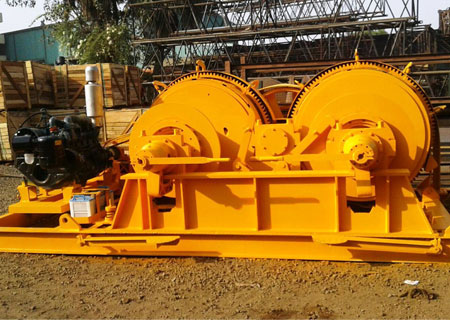 winch, Piling Winch Equipments, Piling Winch with Accessories, Hydraulic Tecimequip Piling Winch, DMC piling, Construction Winch